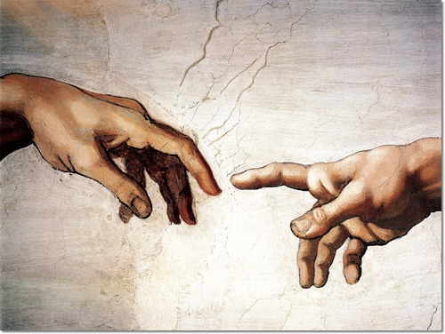michelangelo-buonarroti-european-old-master-painter-sculpter-painting-the-hands-of-god-and-adam